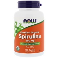 Certified Organic Spirulina 500mg (180таб)