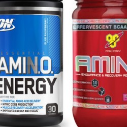 Сравнение BSN Amino X и Optimum Essential Amino Energy